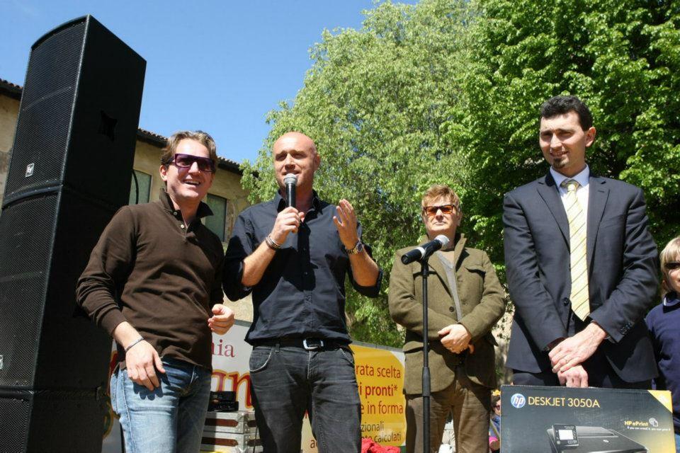 Rudy Zerbi, Marco Clerici ed il Sindaco di Vigevano Andrea Sala