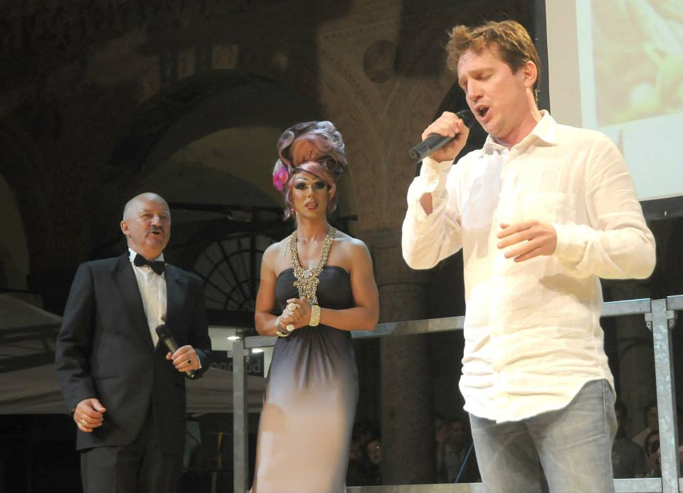 Marco Clerici con Stefano Chiodaroli e la Violetta