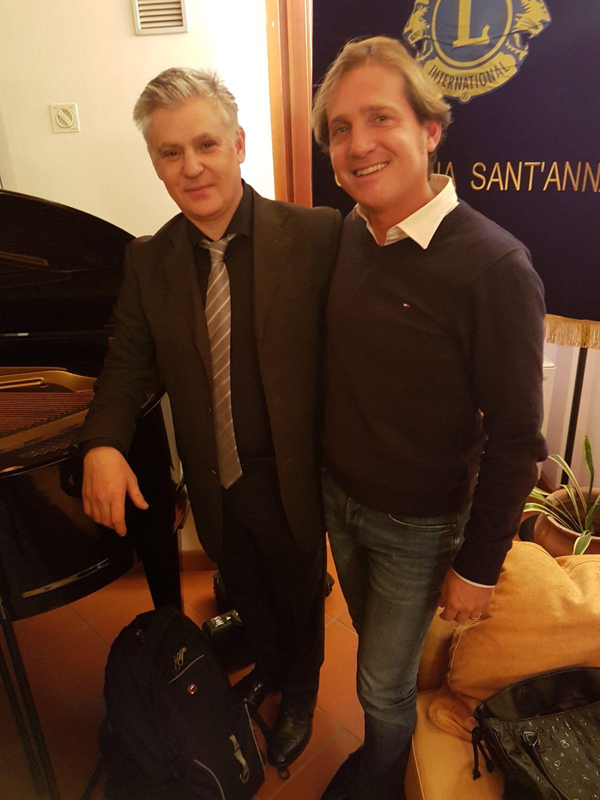 Marco Clerici con Alfredo Ferrario