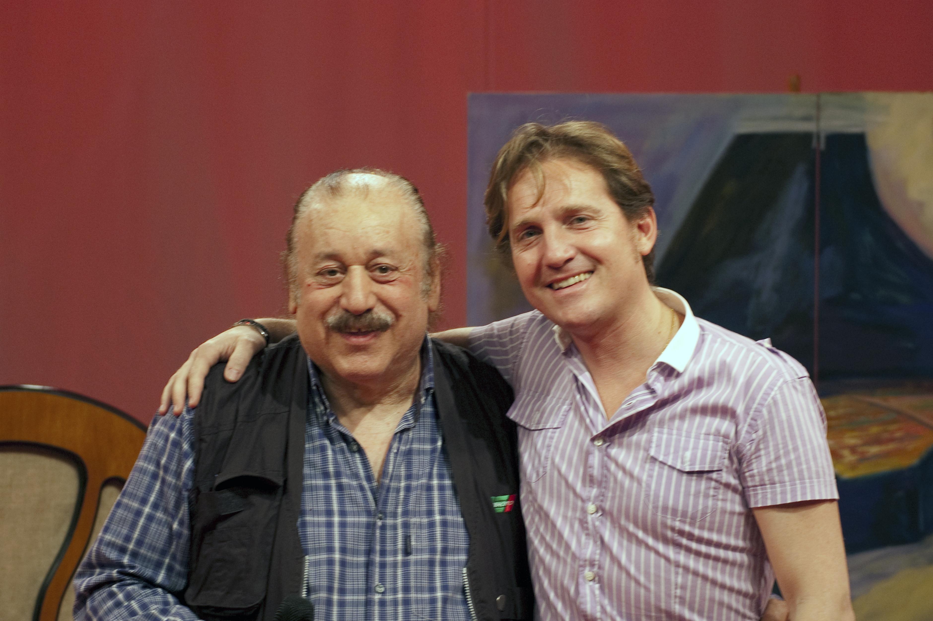 Marco Clerici con Bruno Castiglia dei BISONTI