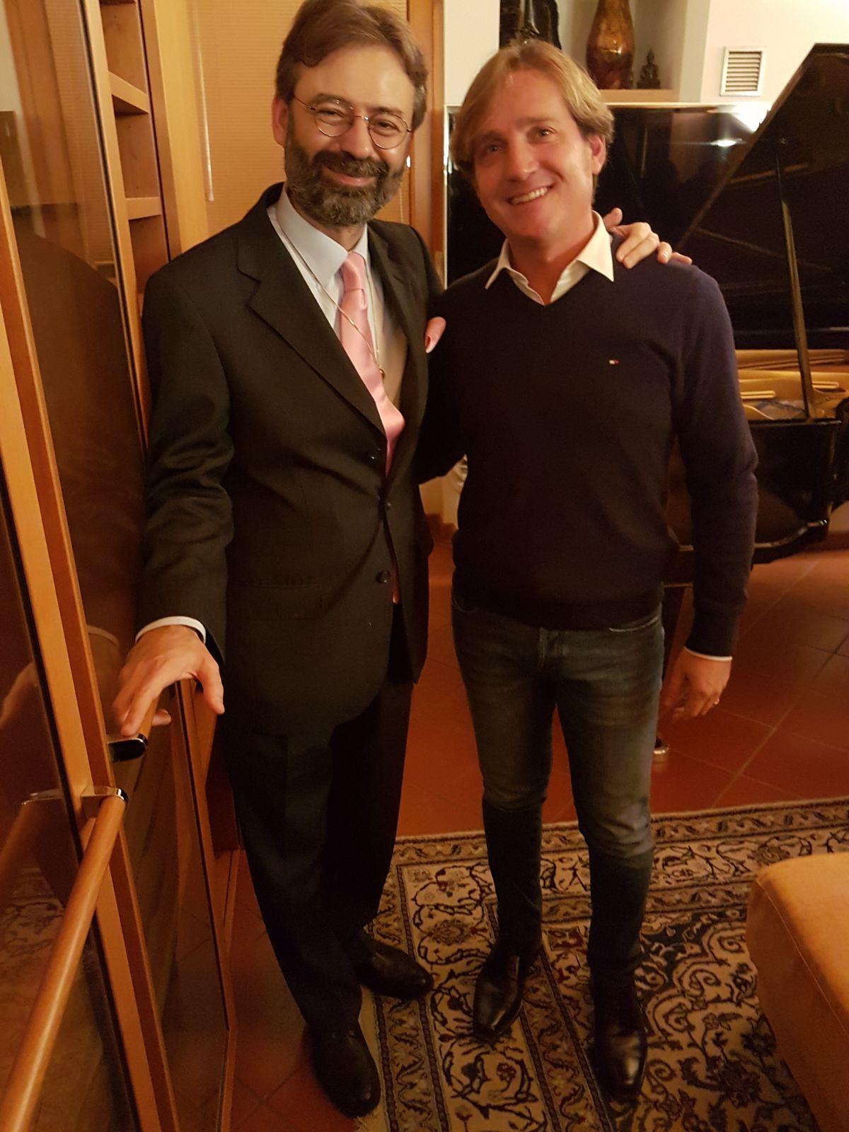 Marco Clerici con Rossano Sportiello