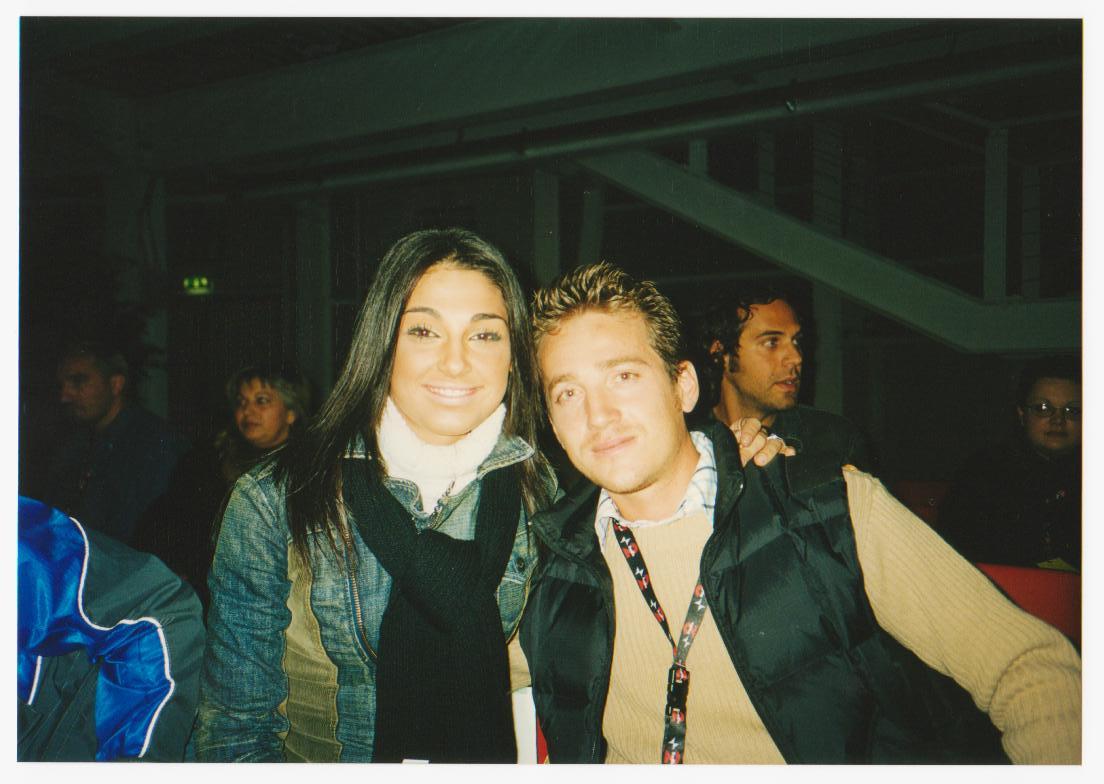 Marco Clerici con Anna Tatangelo all'Accademia di San Remo