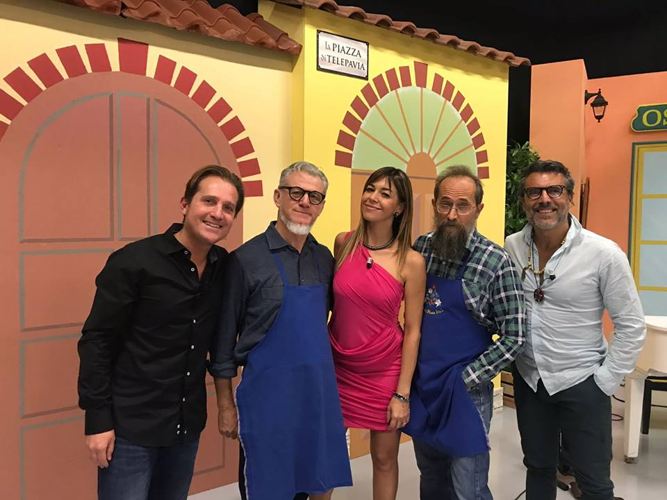 Marco Clerici con Pierluigi Carlone, Biagio Bagini, Mariarosa Aurelio e Pablo
