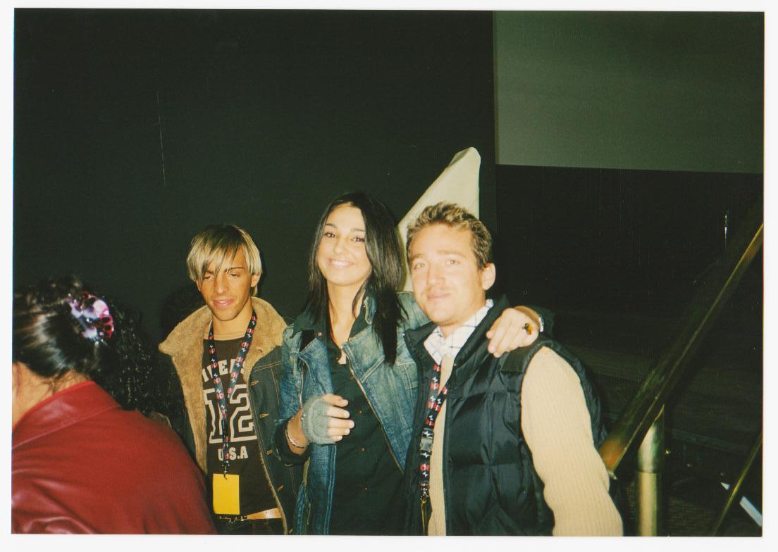 Marco Clerici con Anna Tatangelo all'Accademia di Sanremo