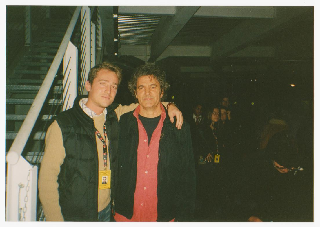 Marco Clerici con Fausto Leali all'Accademia di Sanremo