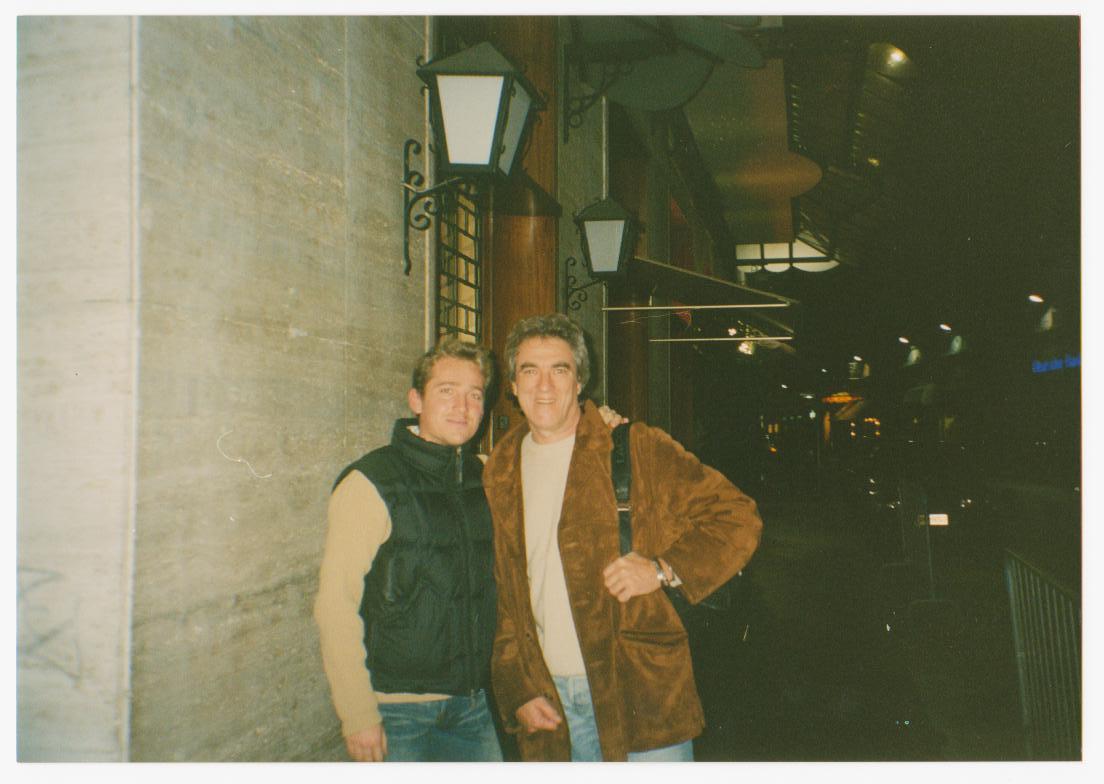 Marco Clerici con Giancarlo Golzi all'Accademia di Sanremo