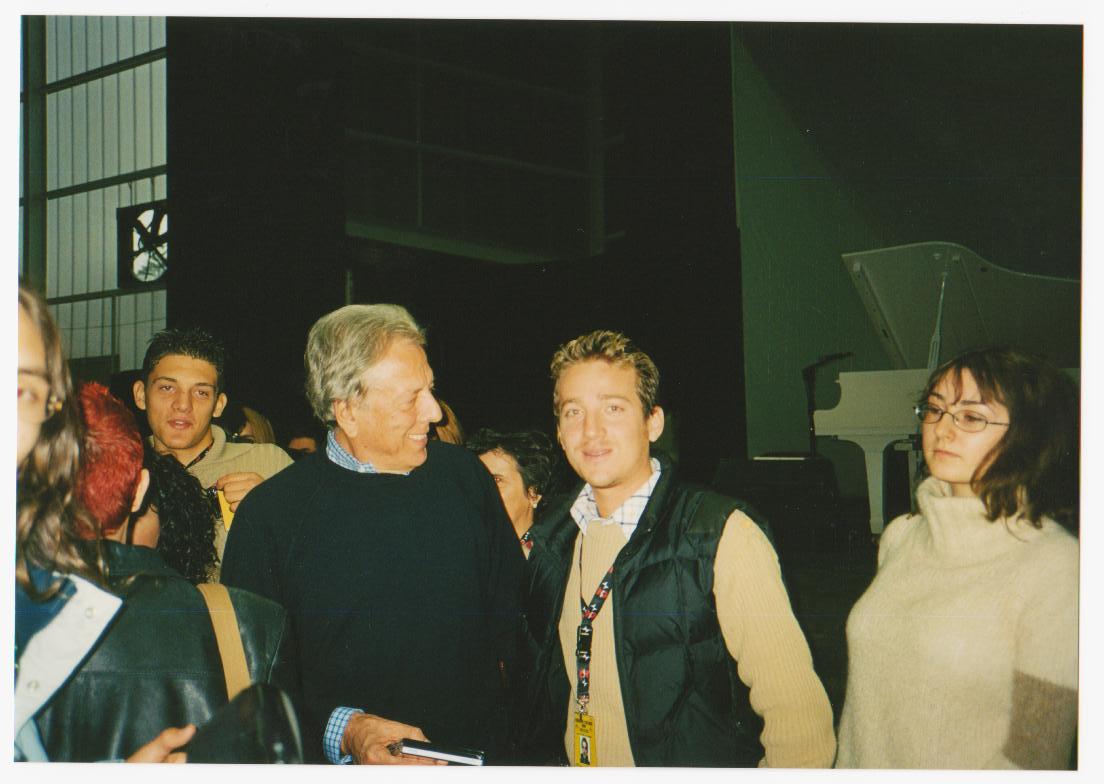Marco Clerici con Mario Lavezzi a Sanremo
