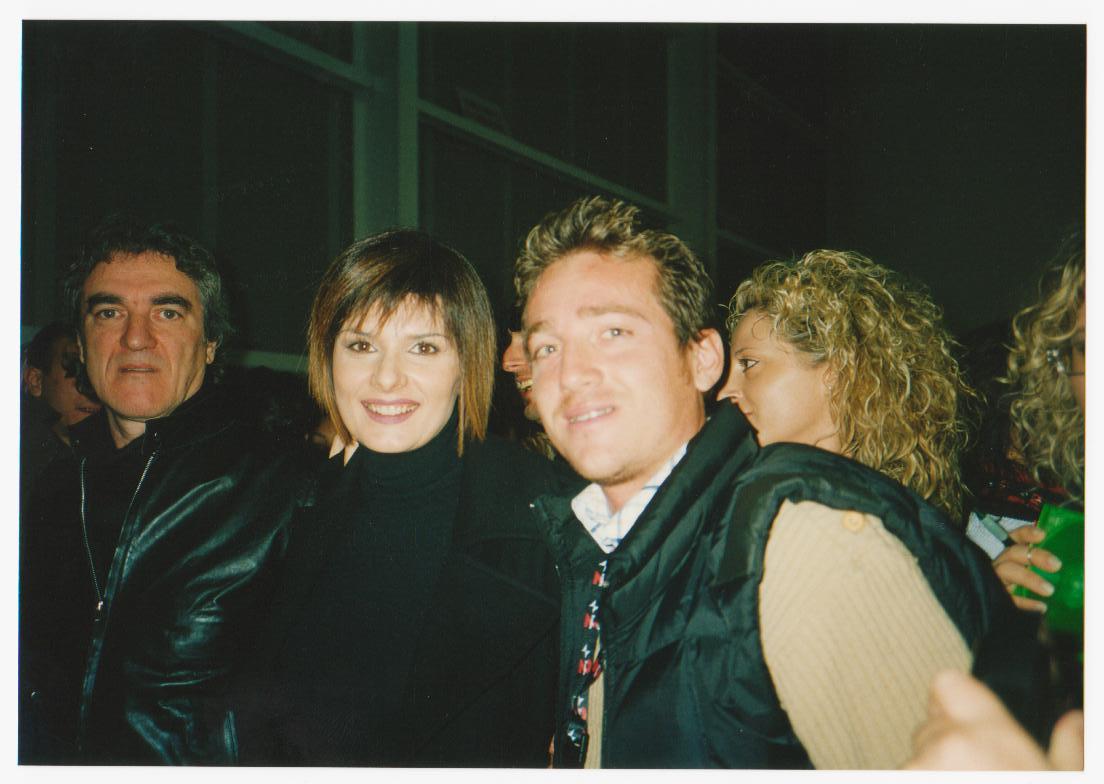 Marco Clerici con Silvia Mezzanotte all'Accademia di Sanremo
