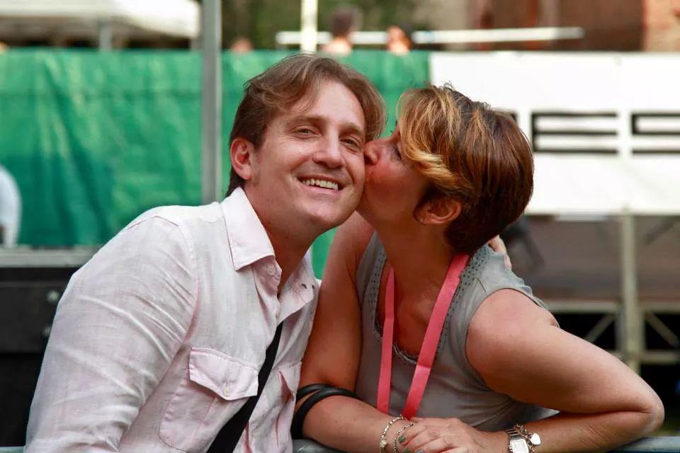 Marco Clerici con la organizzatrice dell'evento Annalisa Vella
