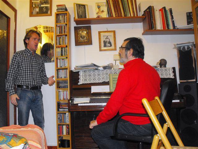 Marco Clerici con il baritono israeliano Boaz Senator (perfezionamento)