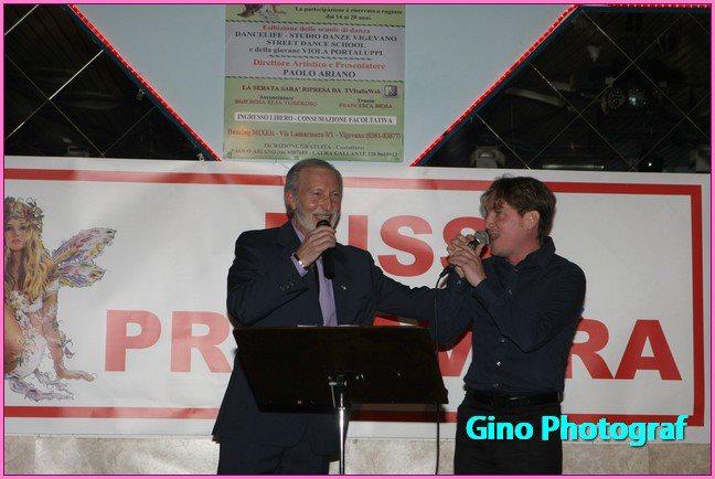 Marco Clerici ospite a Miss Primavera con il presentatore Paolo Ariano