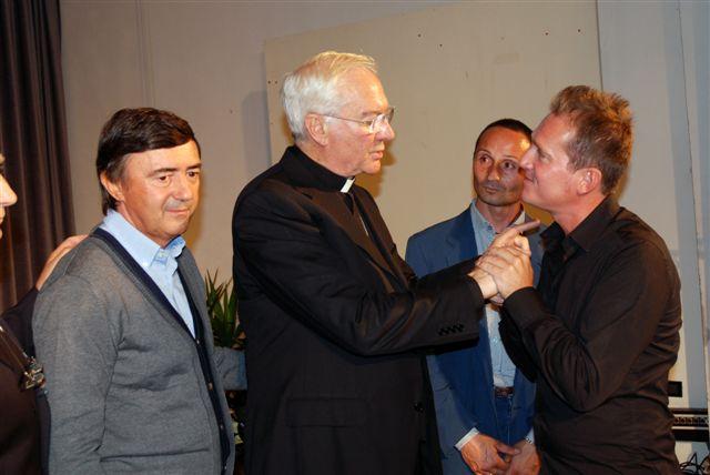 Mons. Marini (Cerimoniere di Papa Giovanni Paolo II) e Marco Clerici