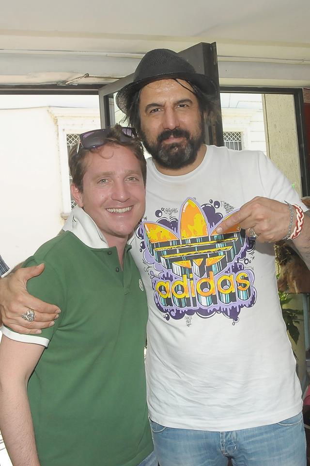 Marco Clerici con Omar Pedrini (Foto Lattari)