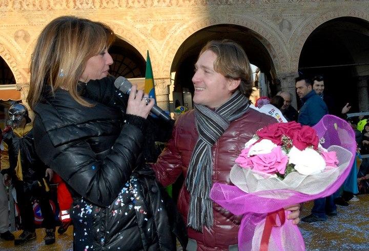 Marco Clerici con Patrizia Caregnato di Studio Aperto