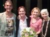Marco Clerici con Fabio Coppini (tastierista di Laura Pausini), Claudia Penoni (attrice comica) e Monique Guichard (pittrice)