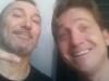 """Marco Clerici con Fabrizio """"Bicio"""" Leo (chitarrista di Renato Zero)"""