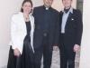 Marco Clerici con don Paolo Lobiati e Marialaura Oltrabella