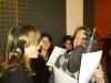 Marco Clerici in studio di registrazione con la vocalist Roberta Usardi