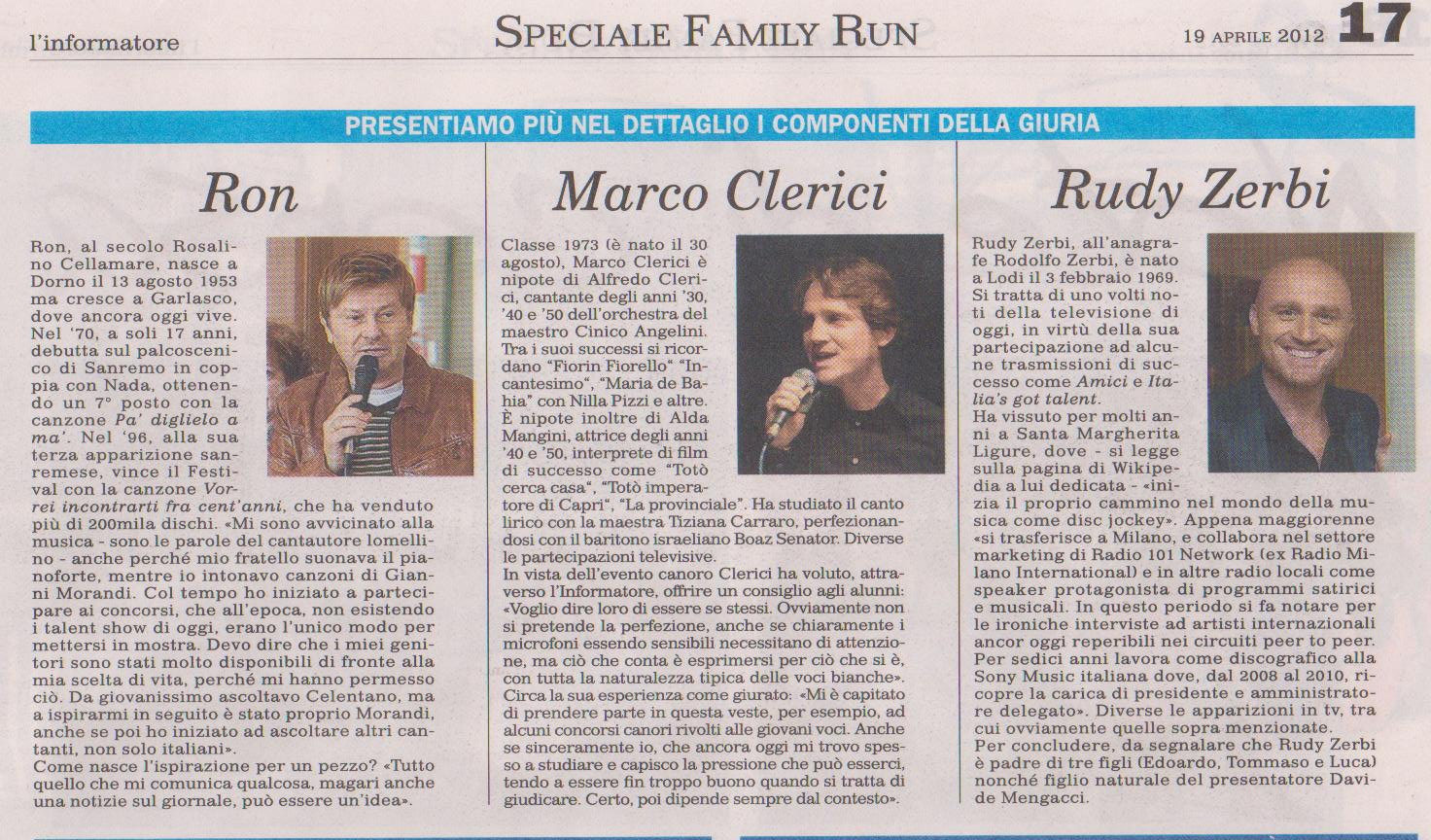 RON, MARCO CLERICI e RUDY ZERBI