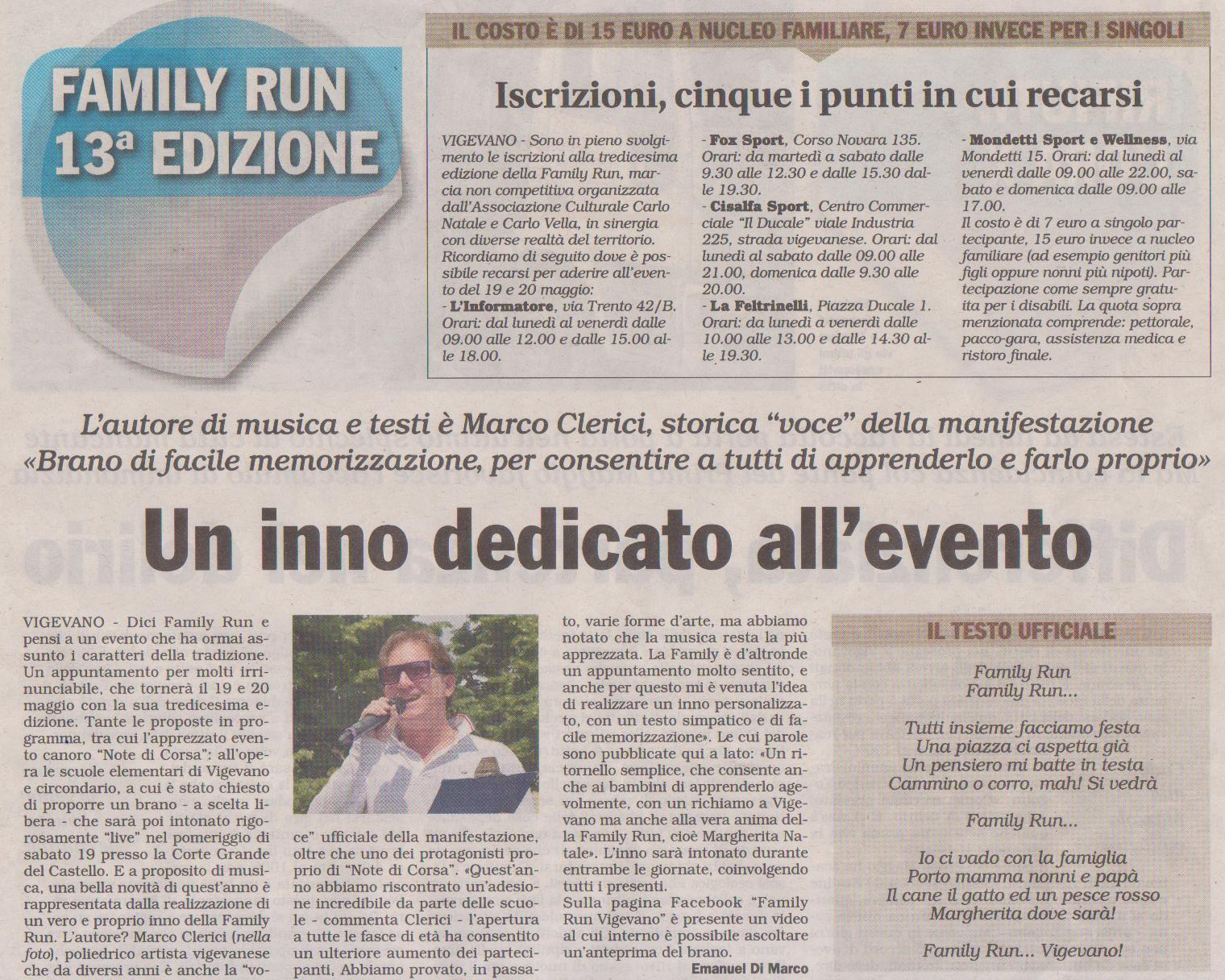 Family Run (Inno di Marco Clerici)