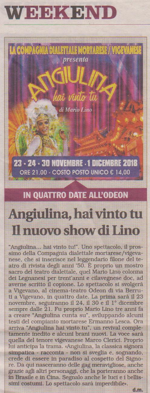 l'Angiulia di Mario Lino torna in teatro