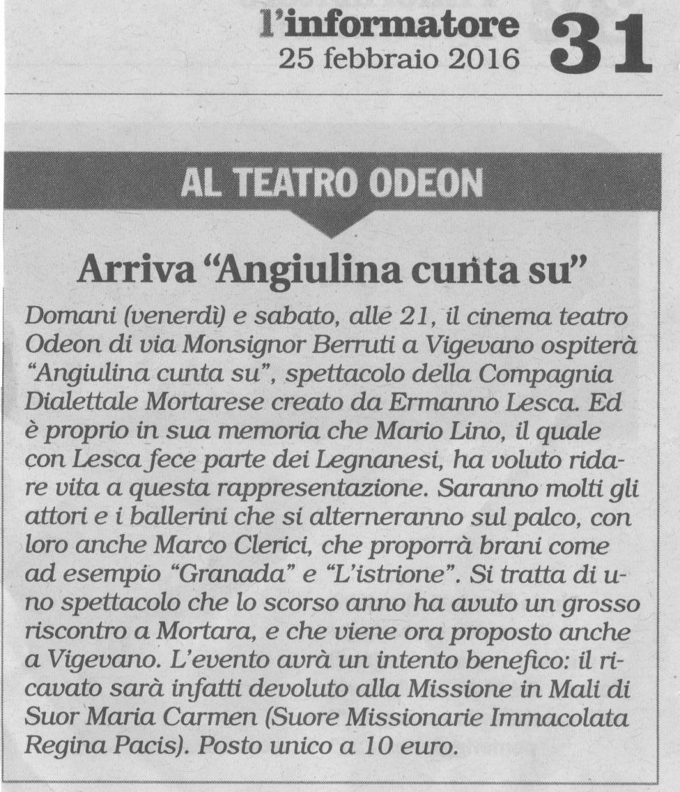 Angiulina Cunta Su a Vigevano