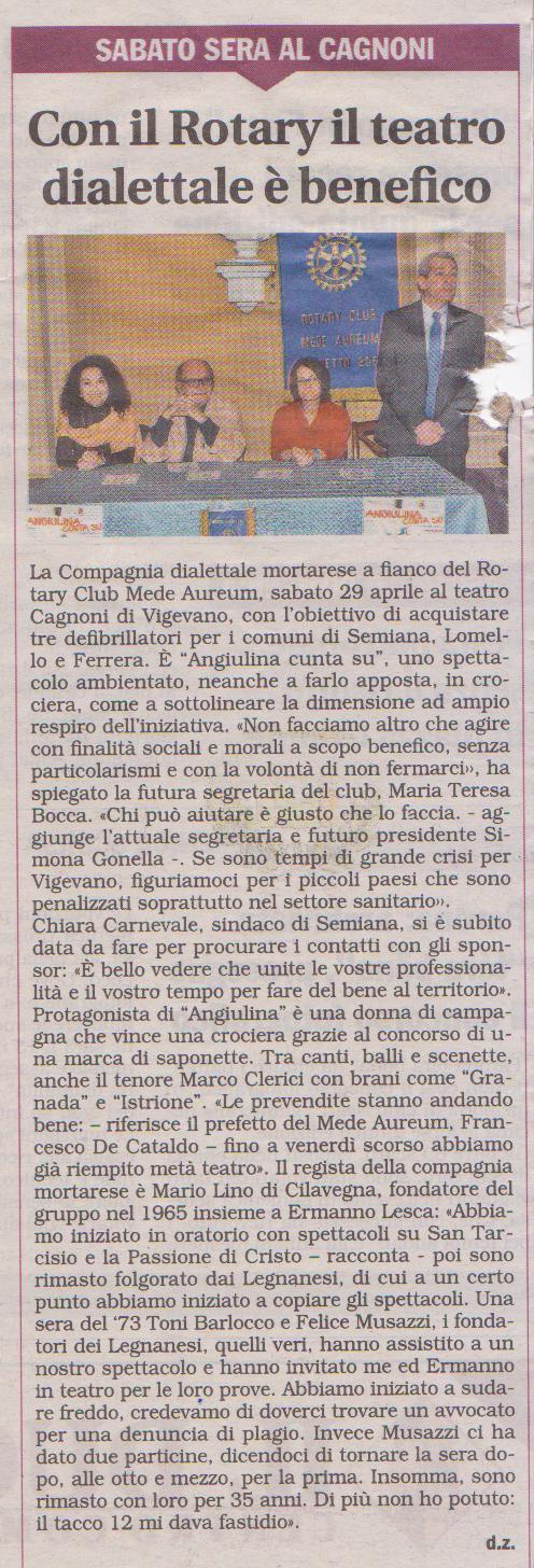 Angiulina Cunta Su al Cagnoni di Vigevano