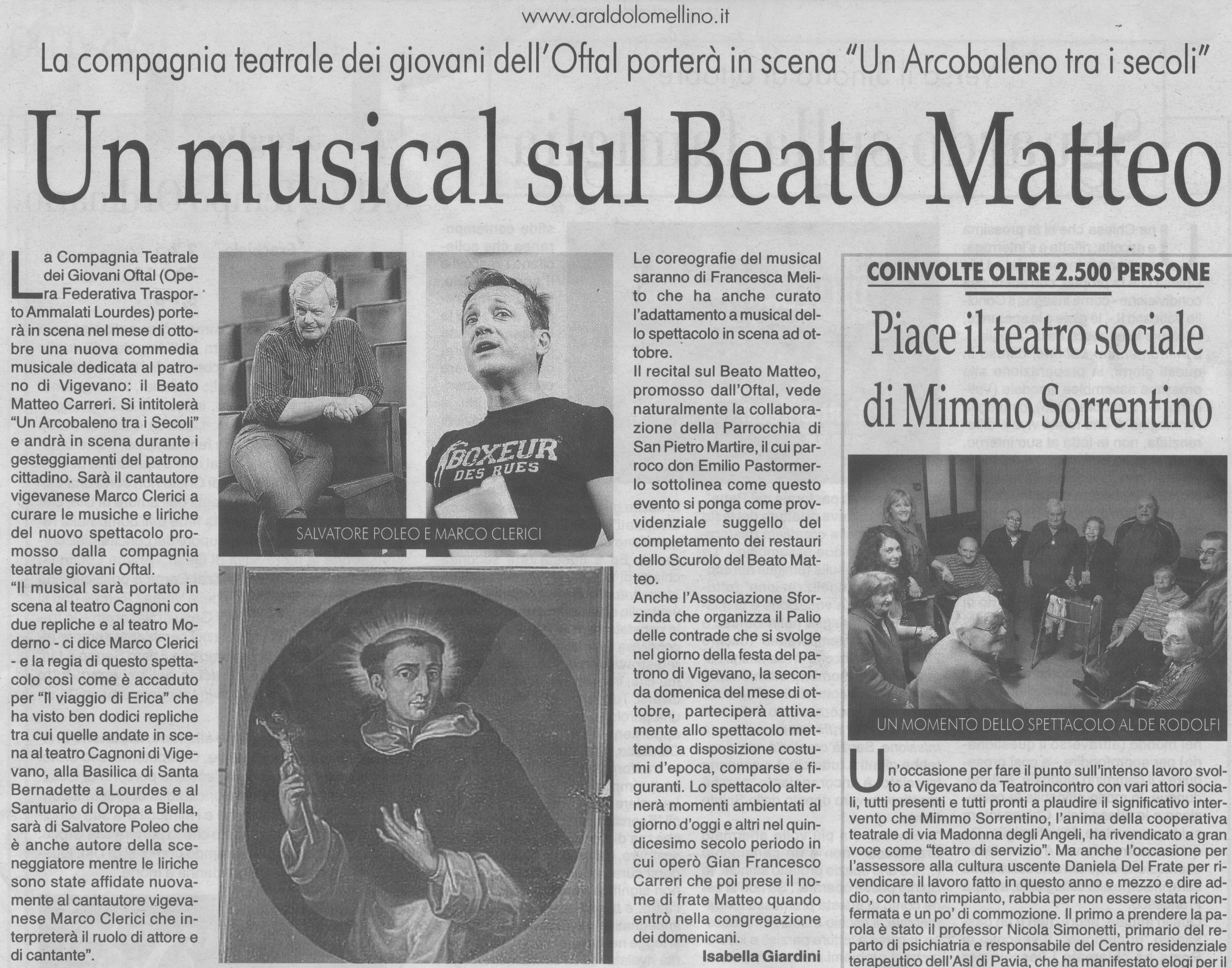 Beato Matteo Carreri - Il nuovo musical