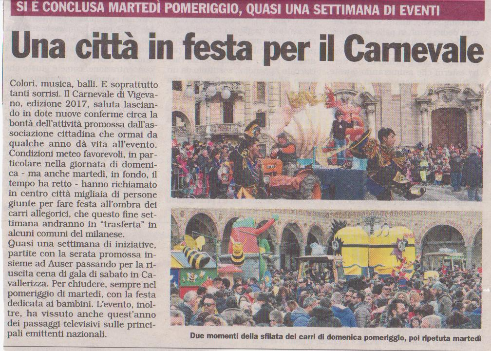 Carnevale 2017 a Vigevano un successo