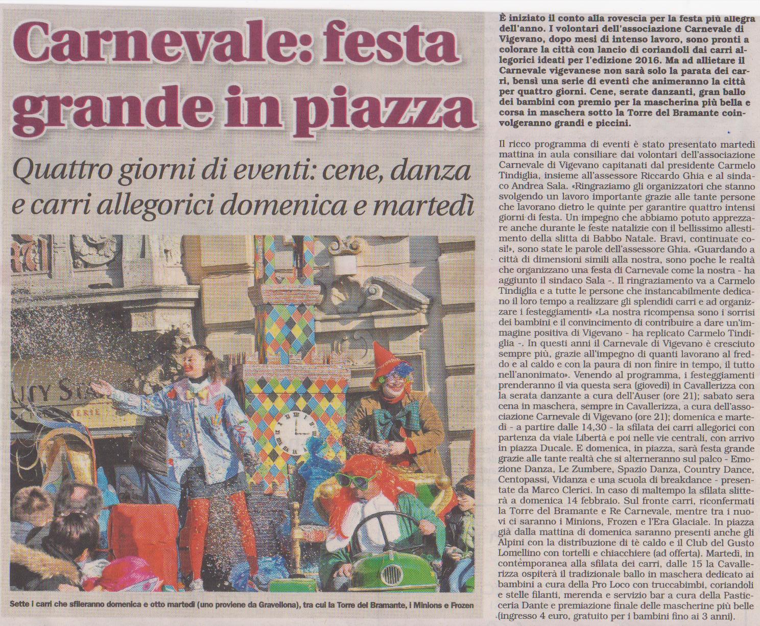 Carnevale Vigevano 2016