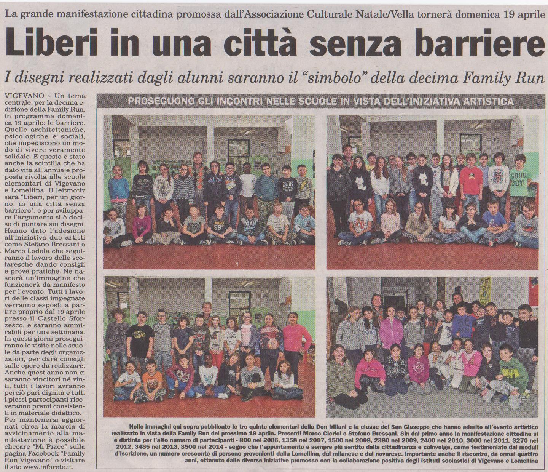 Family Run 2015 - Visita alle scuole di Marco Clerici con Stefano Bressani
