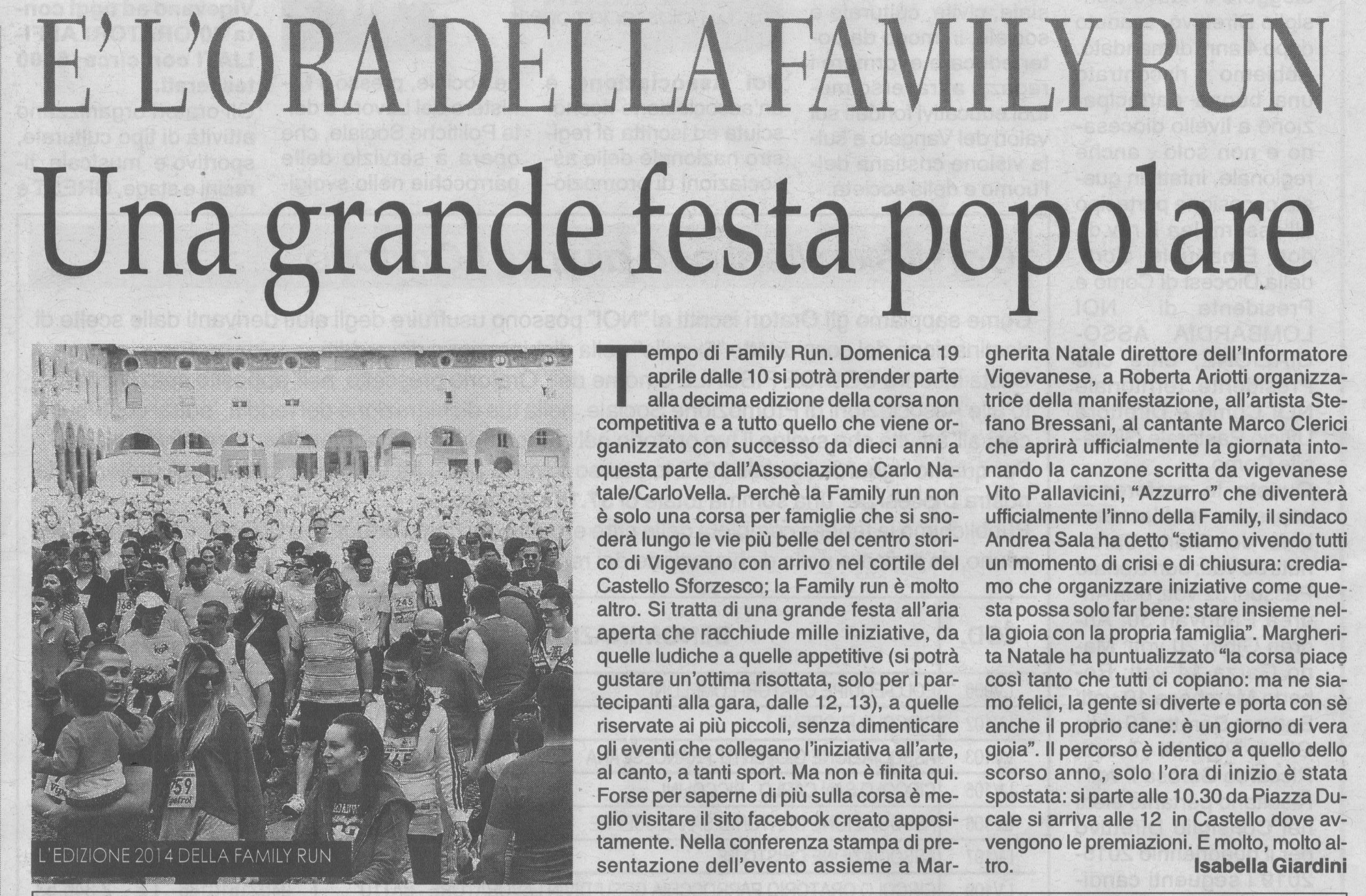 Family Run 2015 grande festa popolare