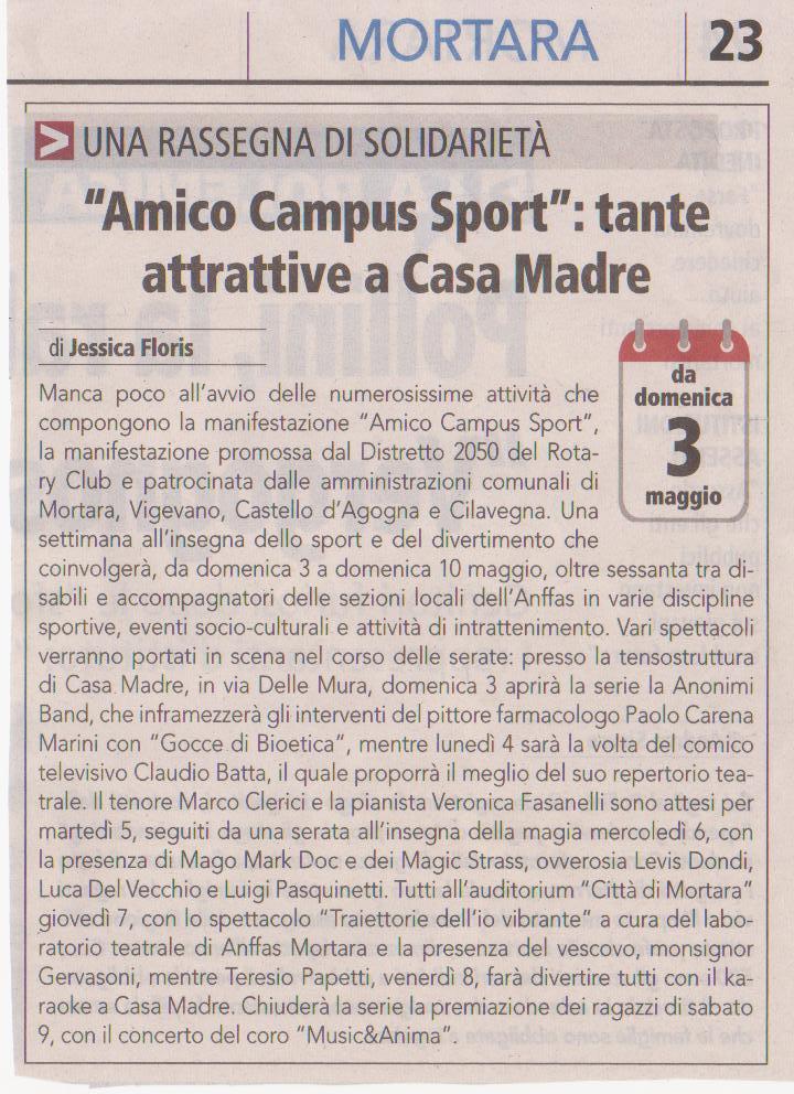 Tanti eventi per AMICO CAMPUS