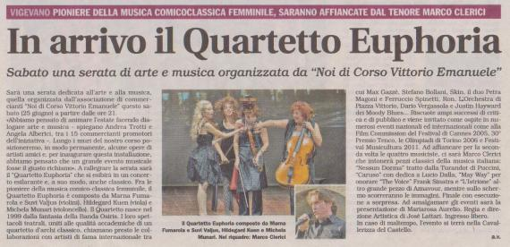 Marco Clerici con The Quartetto Euphoria