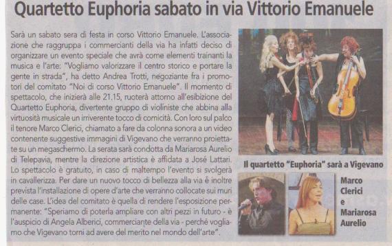 Marco Clerici con The Quartetto Euphoria