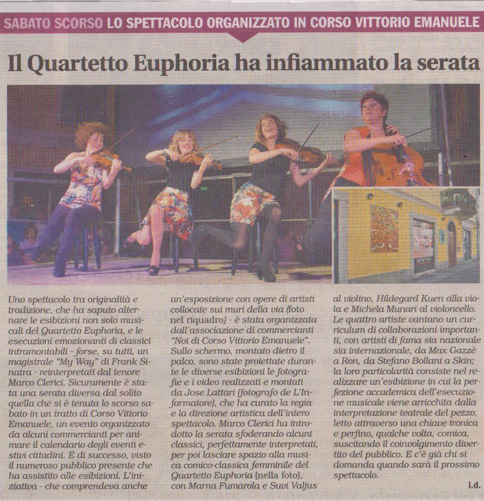 Marco Clerici con The Quartetto Eupohiria
