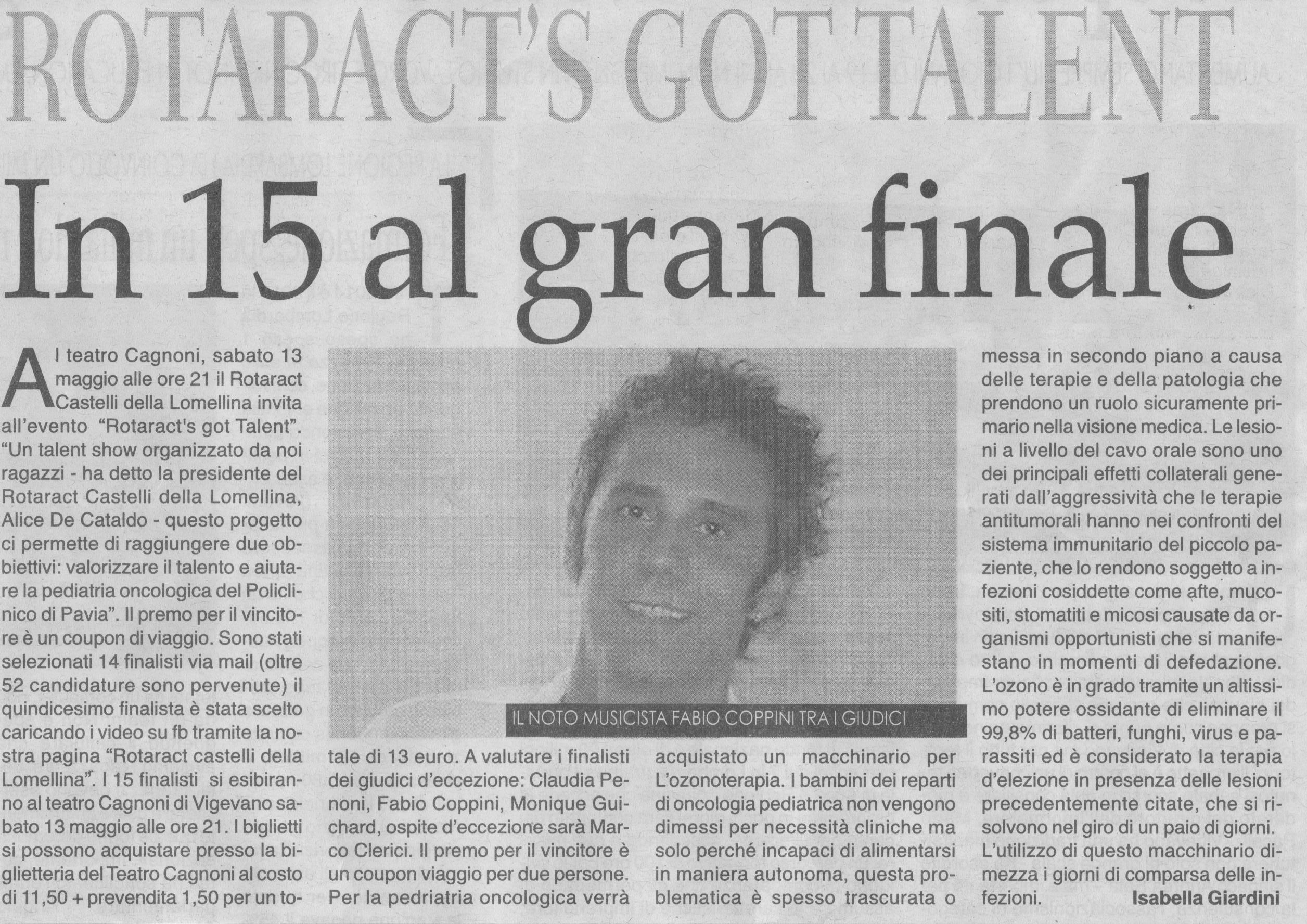 Marco Clerici ospite al Rotaract's Got Talent