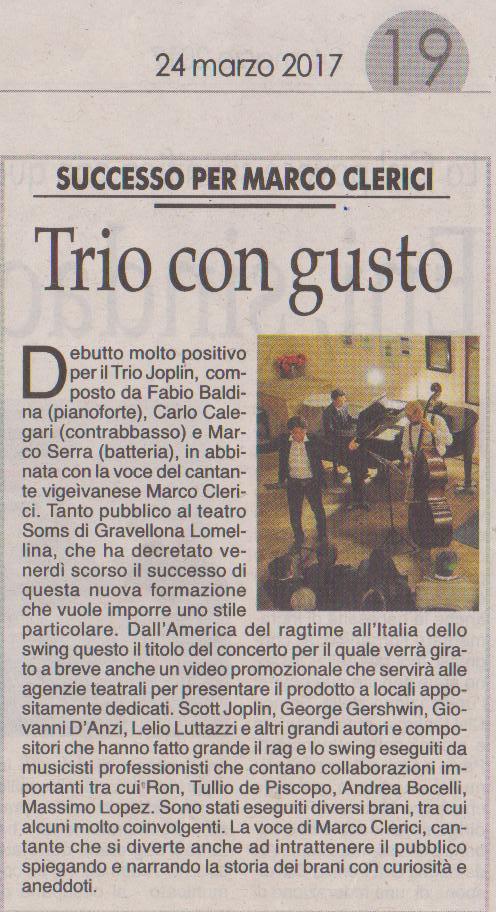 Marco Clerici e il Trio Joplin