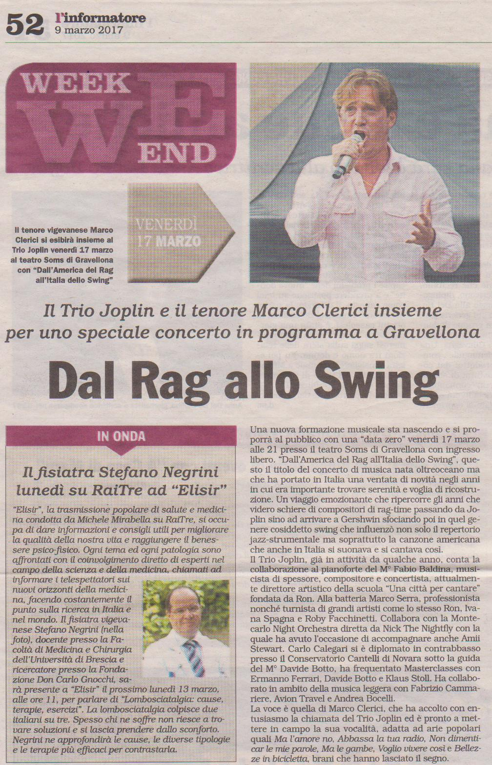 Dall'America del Rag all'Italia dello Swing