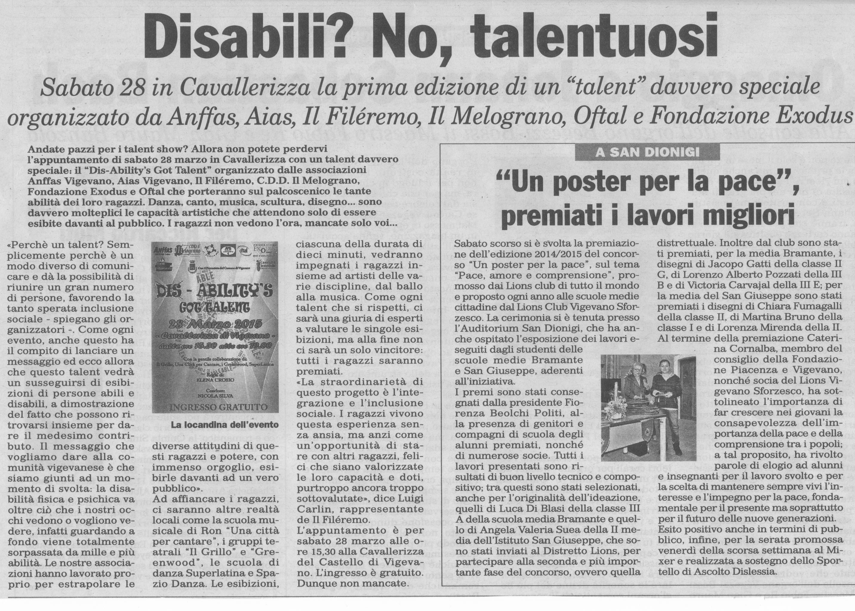 Talent Dis-Ability (Marco Clerici in giuria)
