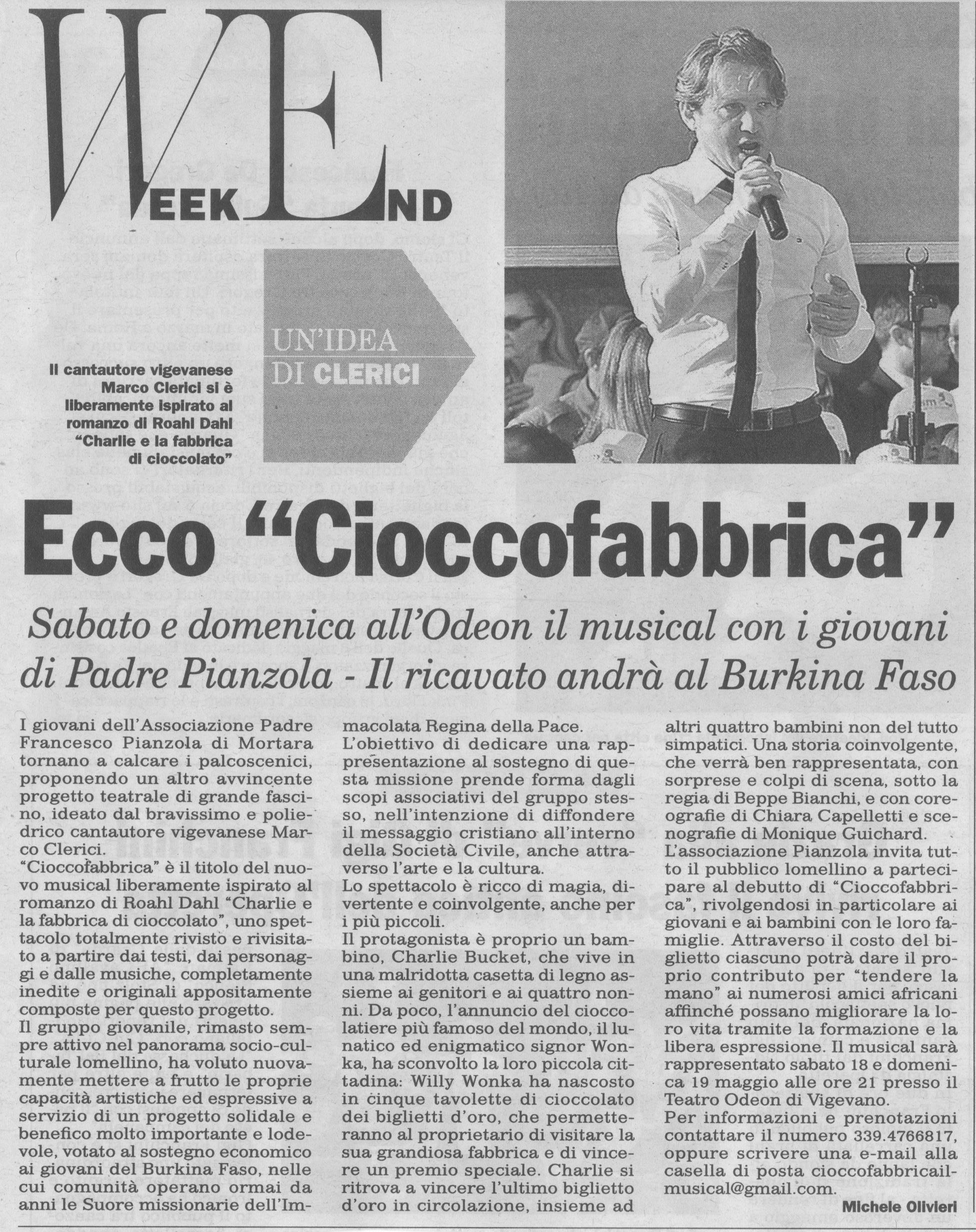 Associazione Giovani Pianzola Cioccofabbrica - Il Musical
