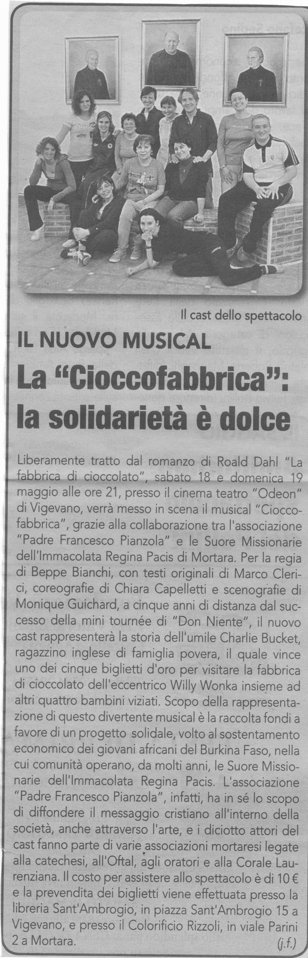 Cioccofabbrica - Il Musical di Marco Clerici