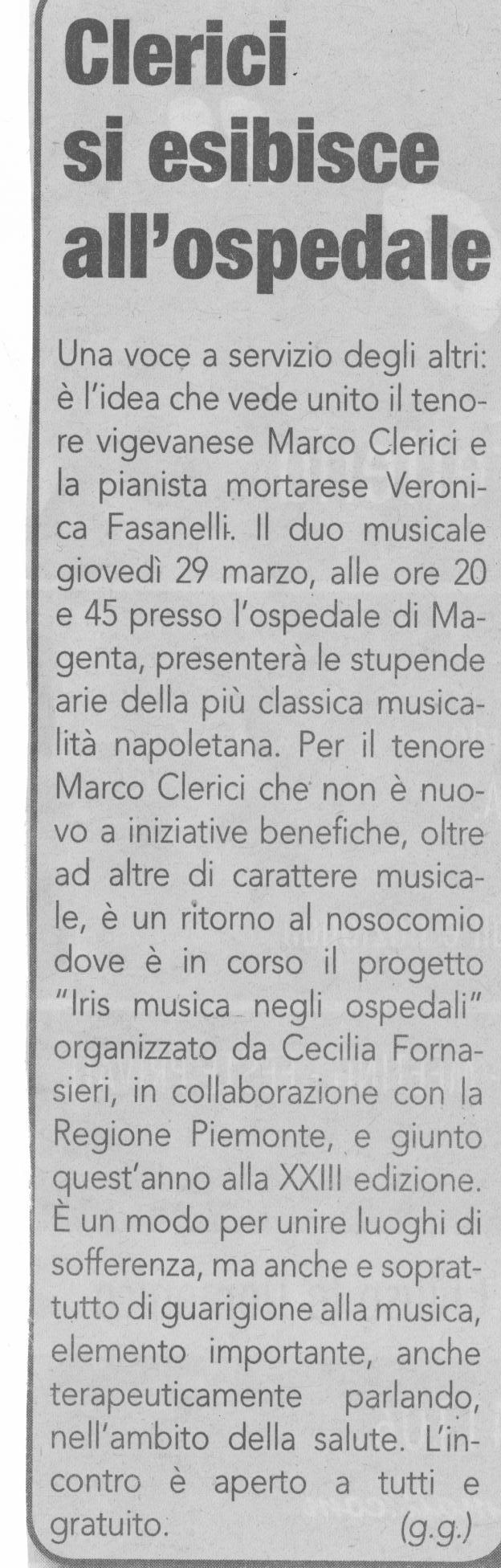 Concerto a Magenta del 29 marzo 2012