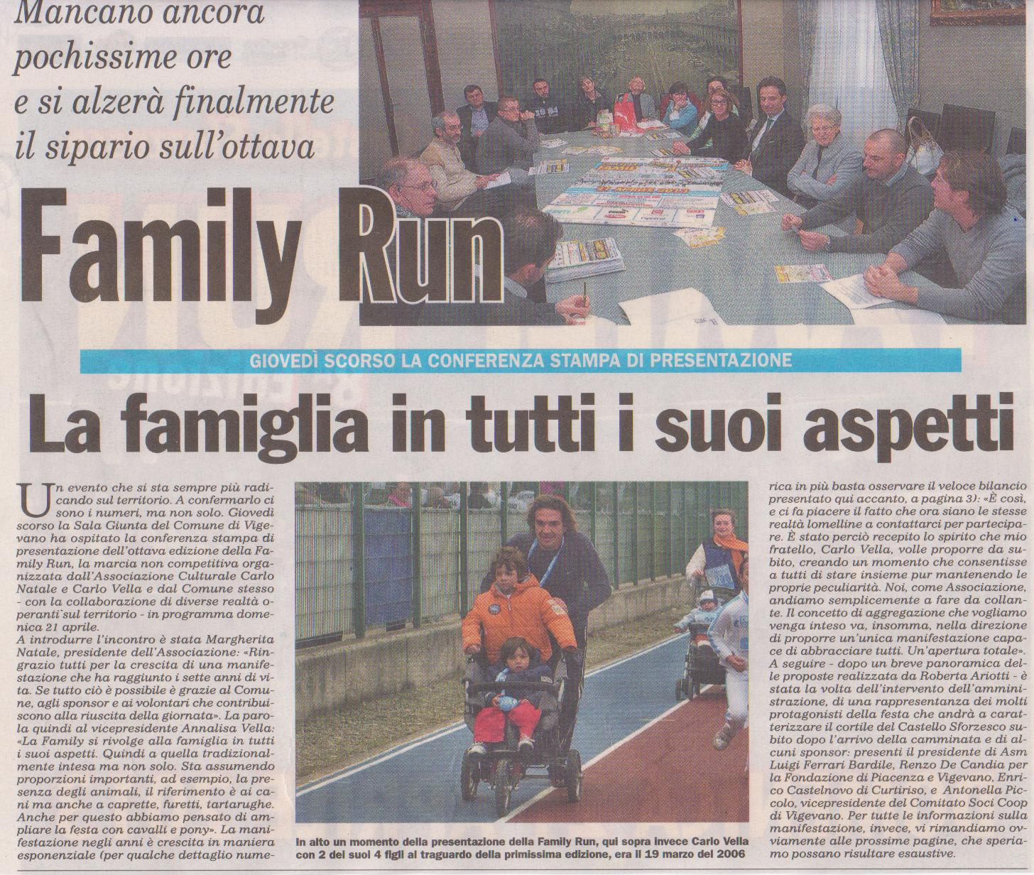 Conferenza stampa Family Run
