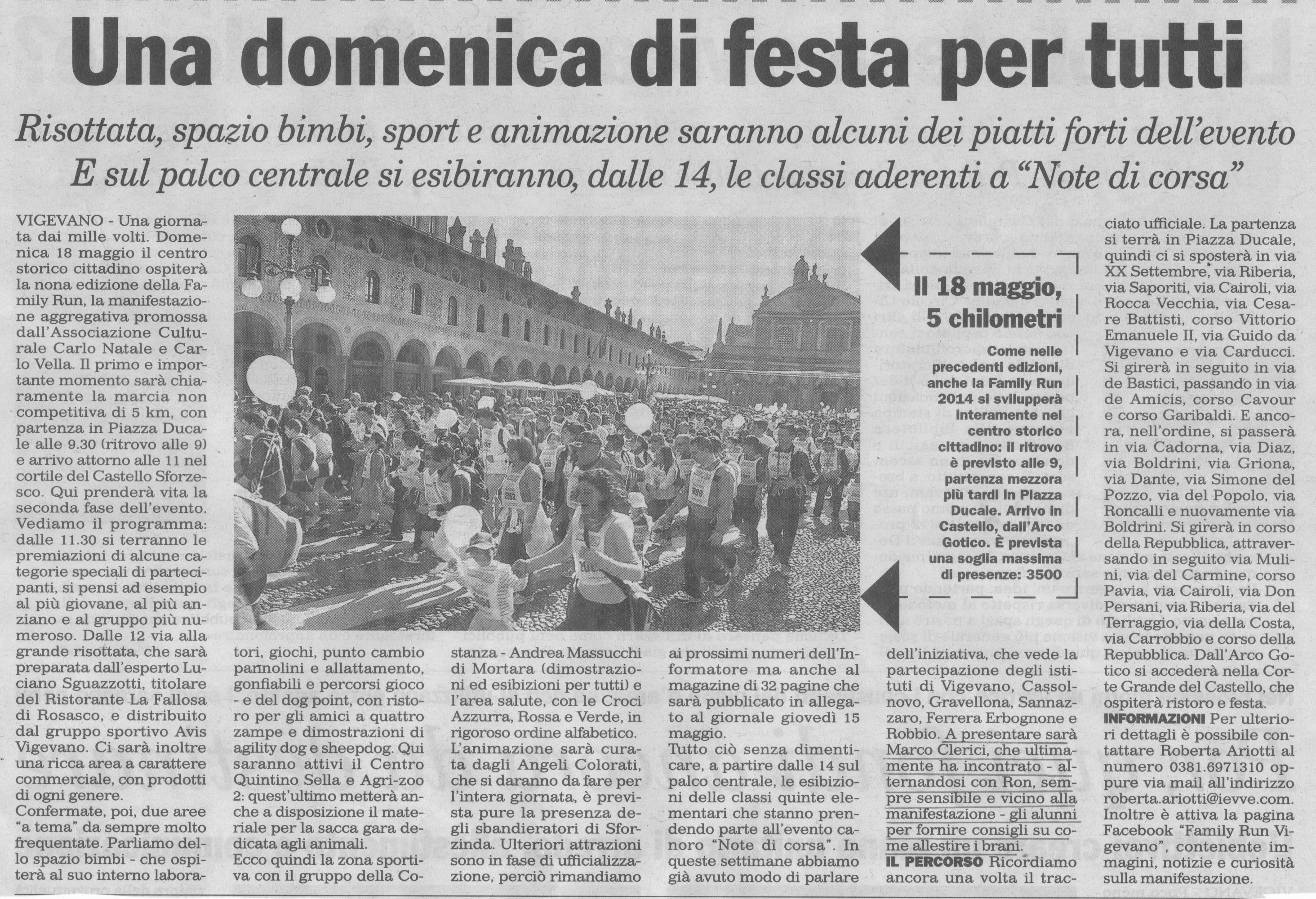 FAMILY RUN E NOTE DI CORSA 2014