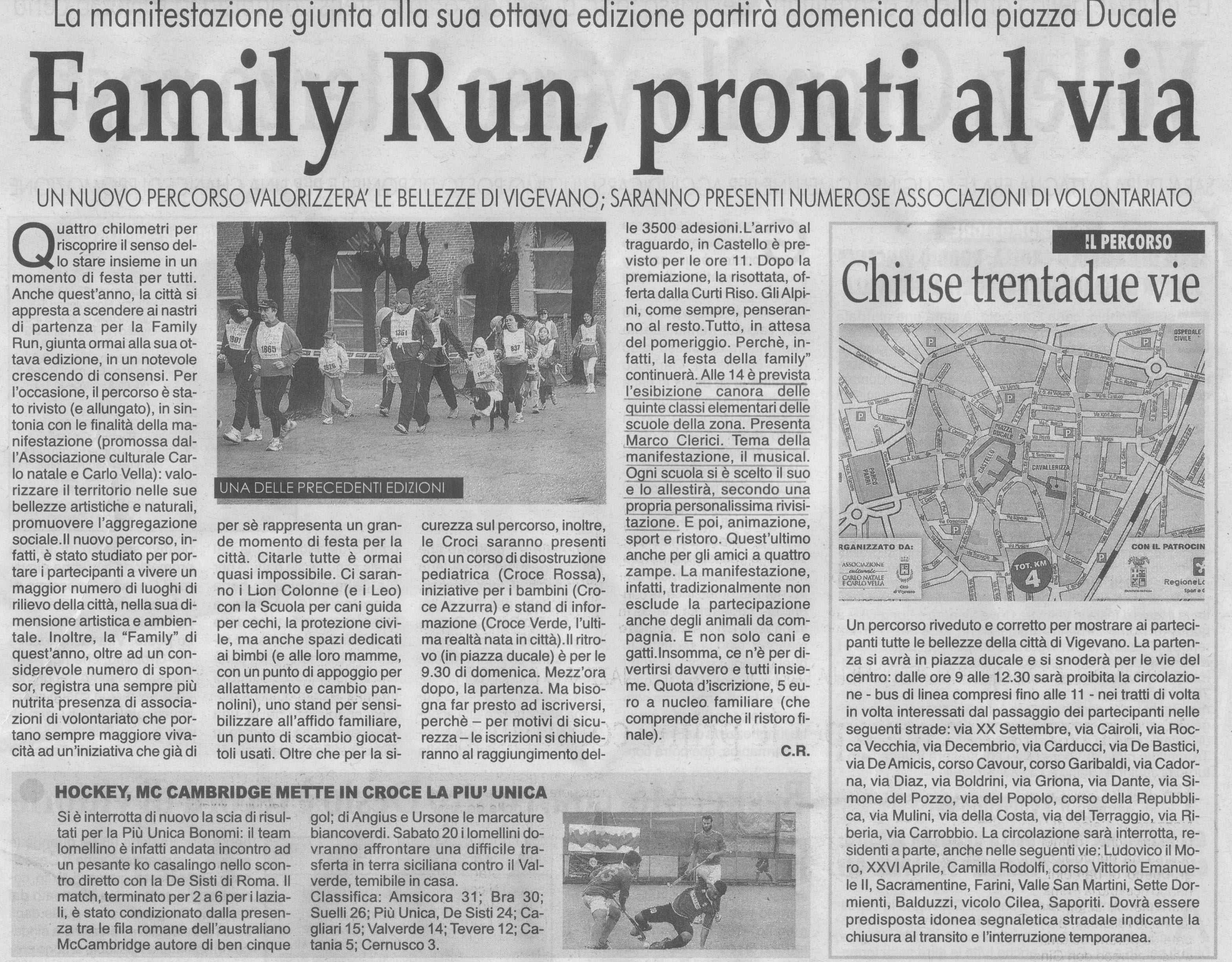 Family Run, l\'iniziativa