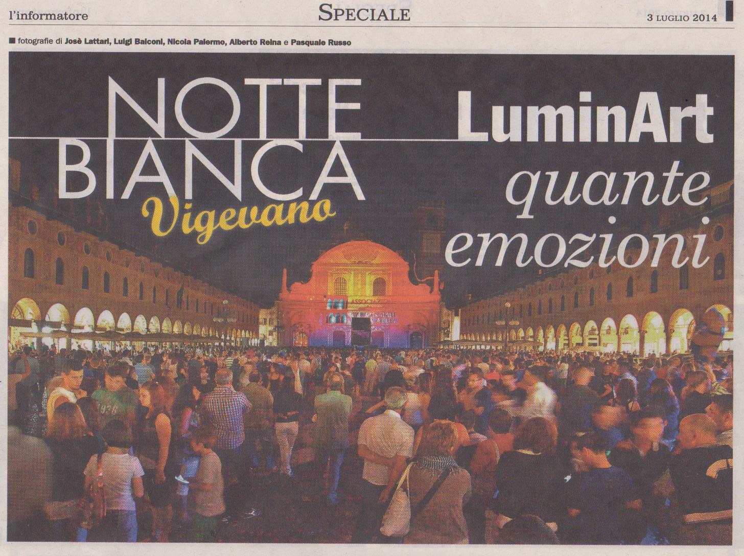 Notte Bianca 2014 a Vigevano - Grande Successo