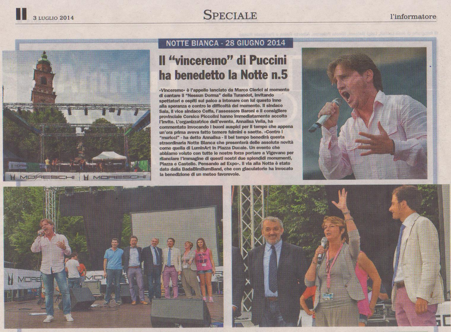Marco Clerici alla Notte Bianca di Vigevano 2014