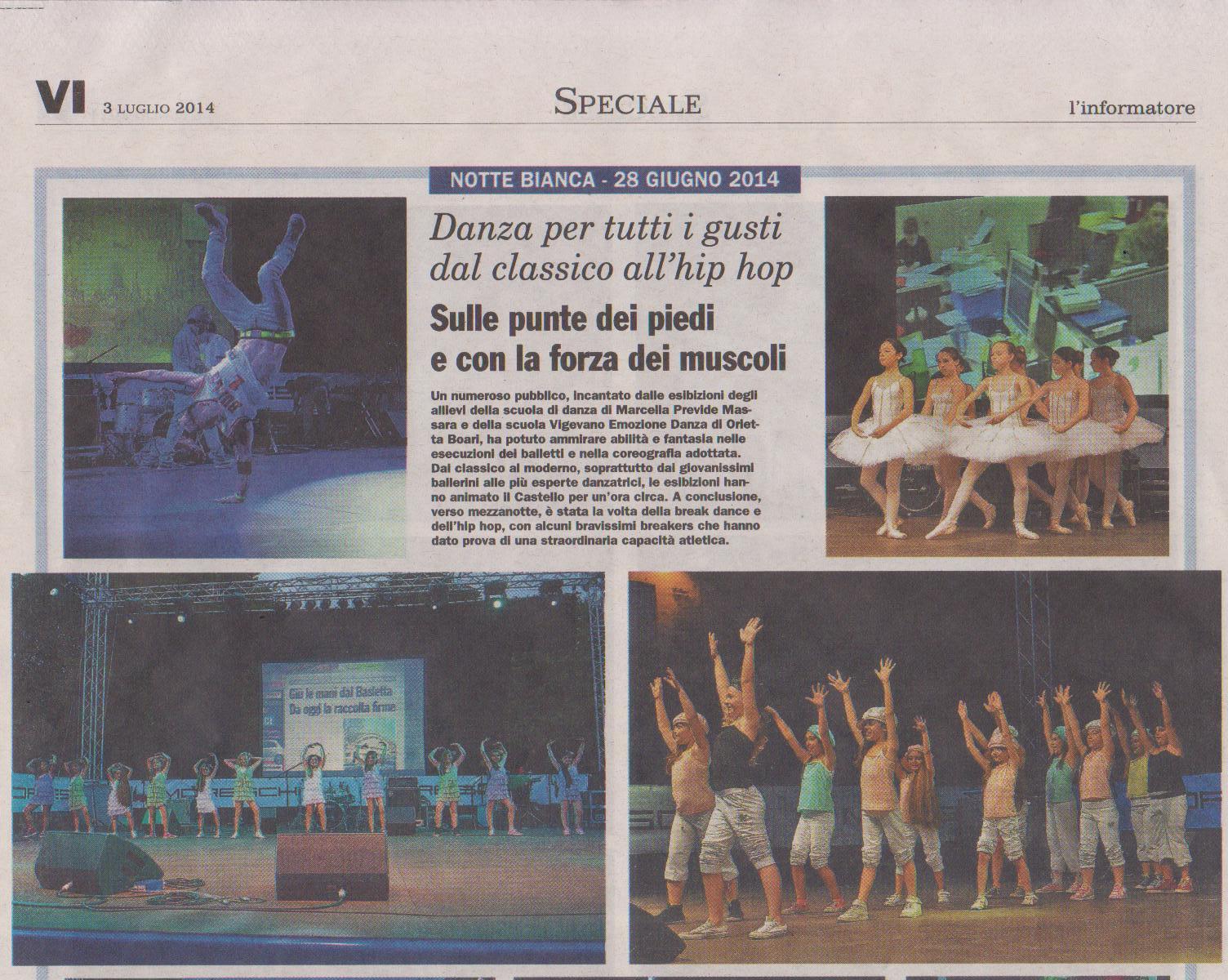 Grande Danza alla Notte Bianca 2014 di Vigevano