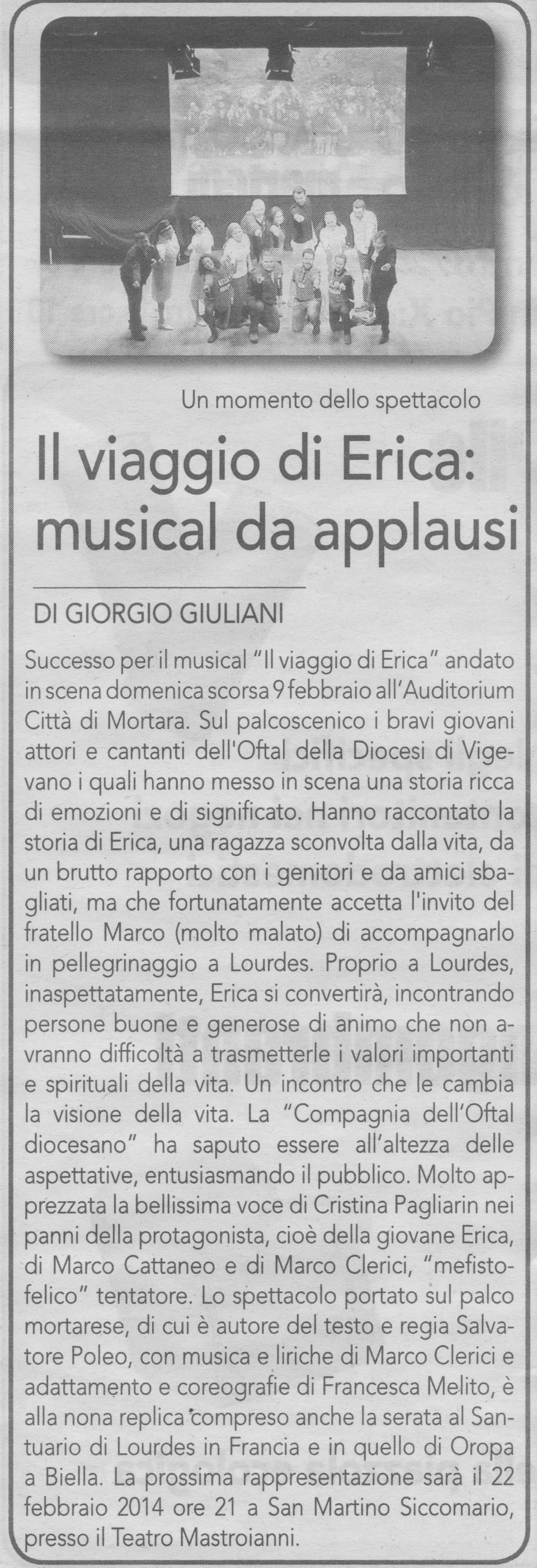 Il Viaggio di Erica a Mortara (Auditorium)